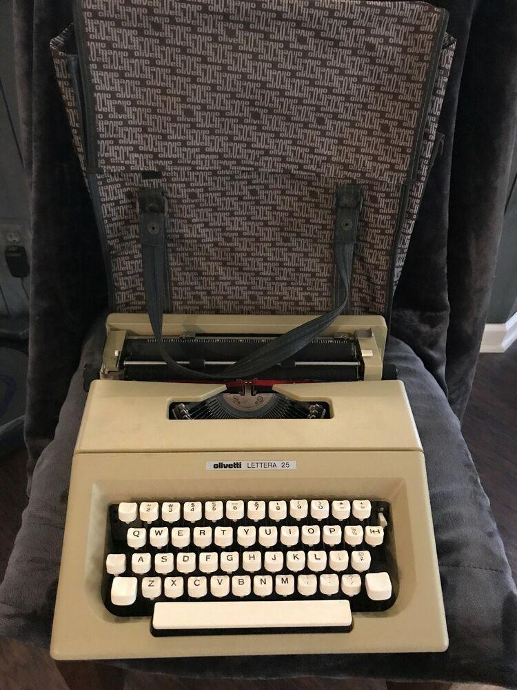Vintage olivetti portable manual typewriter.