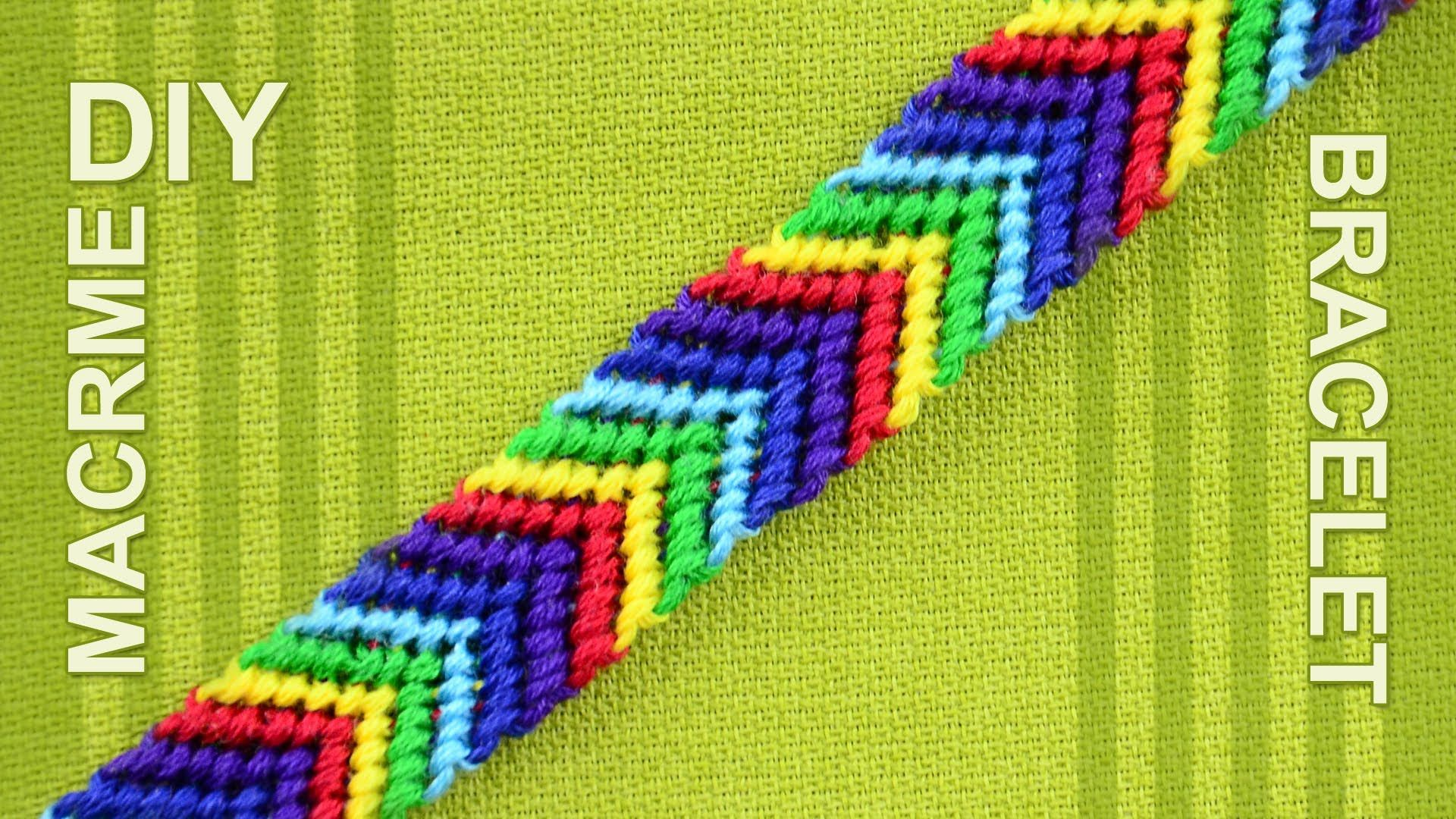 How To Make A Macrame Arrow Design Friendship Bracelet Called Chevron V Pattern