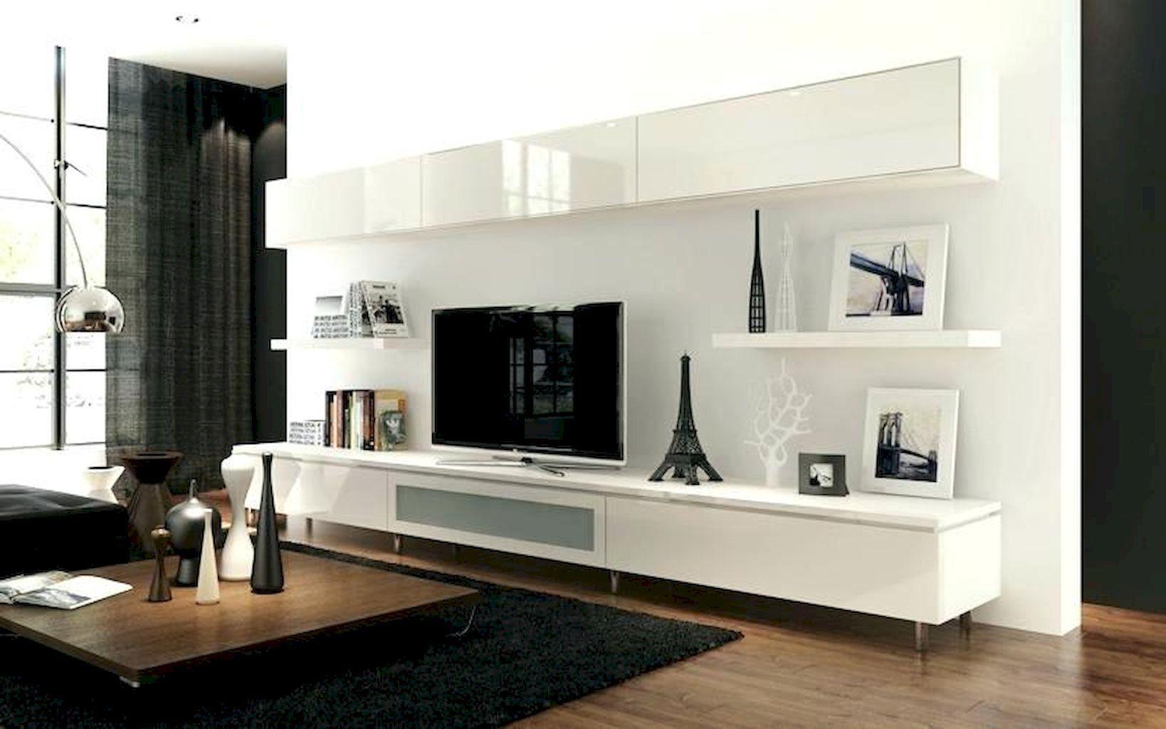 55 Brilliant Floating Shelves Design For Living Room Ideas Decorationroom Living Room Tv Floating Cabinets Wall Mounted Tv Cabinet