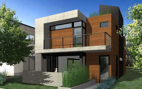 Home design moderne house pinterest designer id es for Modern cabin plans for sale