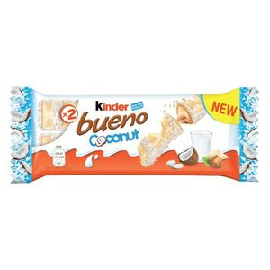 Kinder Bueno Coconut White Chocolate Wafer Bar 43g