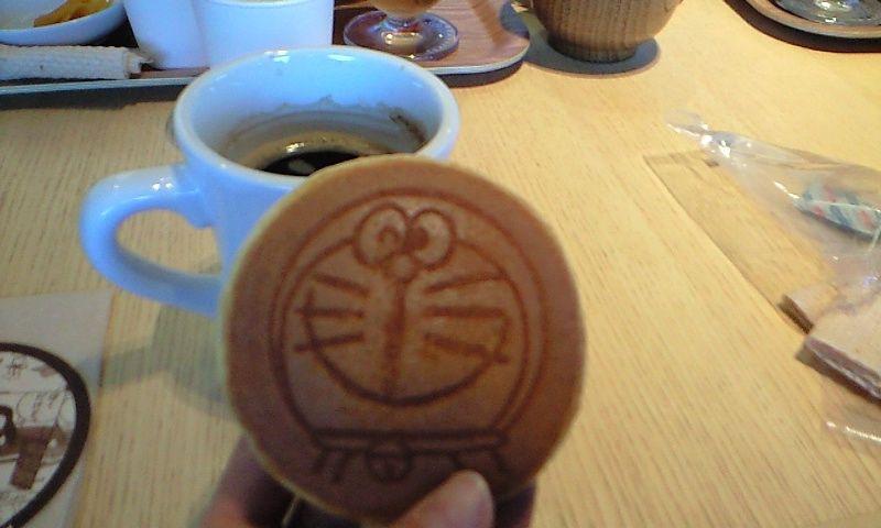 Doraemon cake at museum cafe