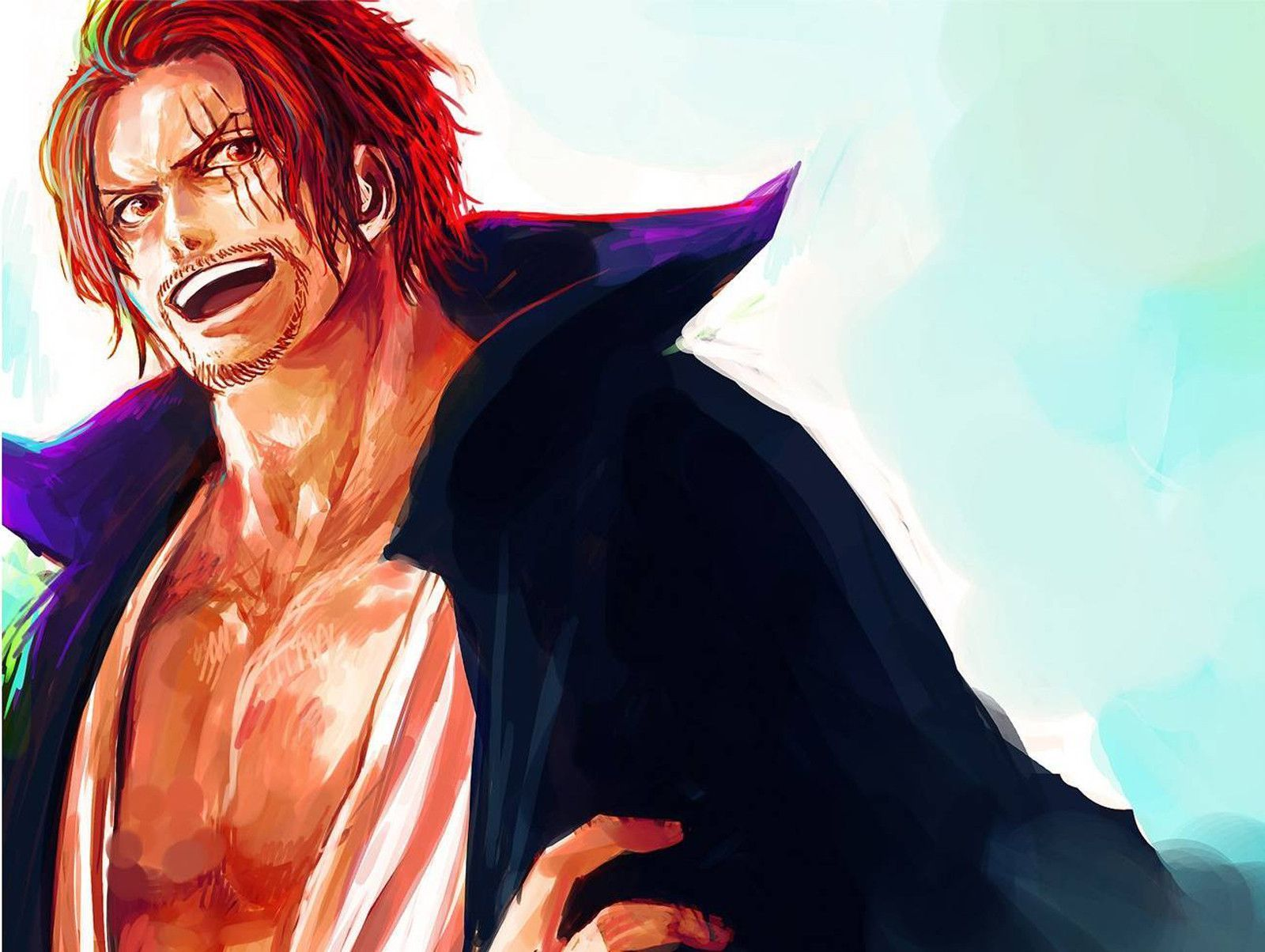 Pix For Shanks Wallpaper Shanks Mihawk One Piece Shank Anime