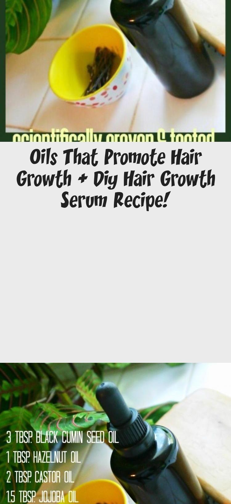 Oils That Promote Hair Growth + Diy Hair Growth Serum Recipe! #fasterhairgrowth
