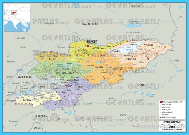 Nice map of kyrgyzstan travelsmaps pinterest nice map detailed clear large political map of kyrgyzstan showing names of capital city towns states provinces and boundaries with neighbouring countries gumiabroncs Image collections