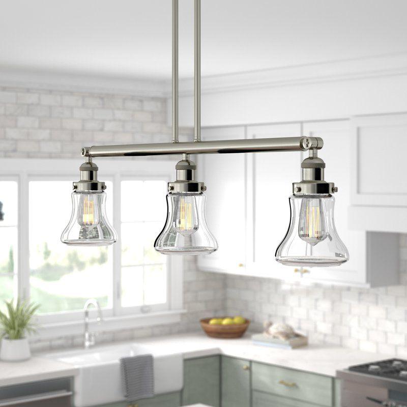 Nardone 3 Light Kitchen Island Bell Pendant Kitchen Island Lighting Modern Kitchen Island Design Kitchen Lighting
