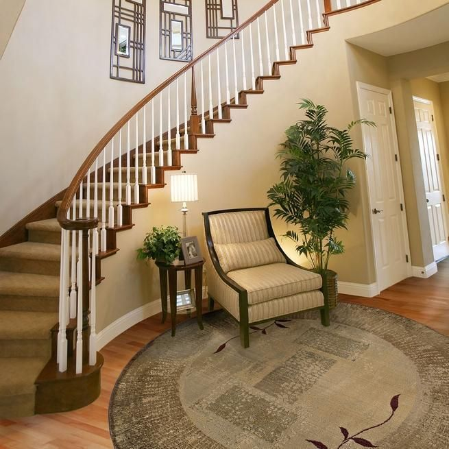 20 Attractive Painted Stairs Ideas: Beautiful Houses Interior, Foyer Design