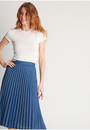 Ana Denim Pleated Midi Skirt At Shopruche Com Midi Skirt Beautiful Skirts Pleated Midi Skirt
