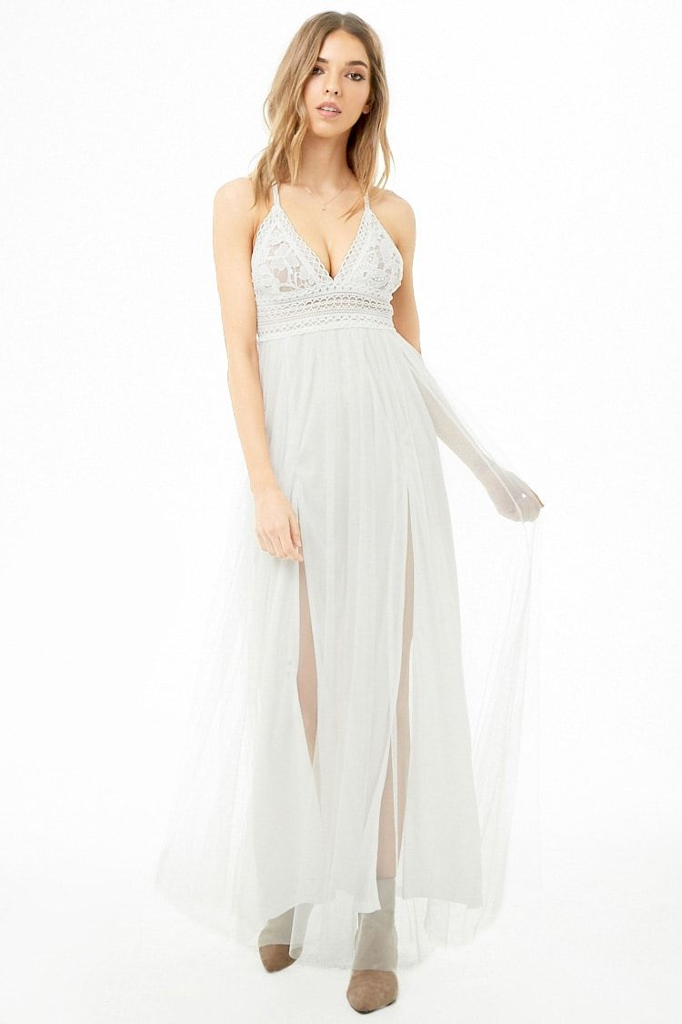 0d7933b1c96 White Lace Maxi Dress Forever 21 - Gomes Weine AG