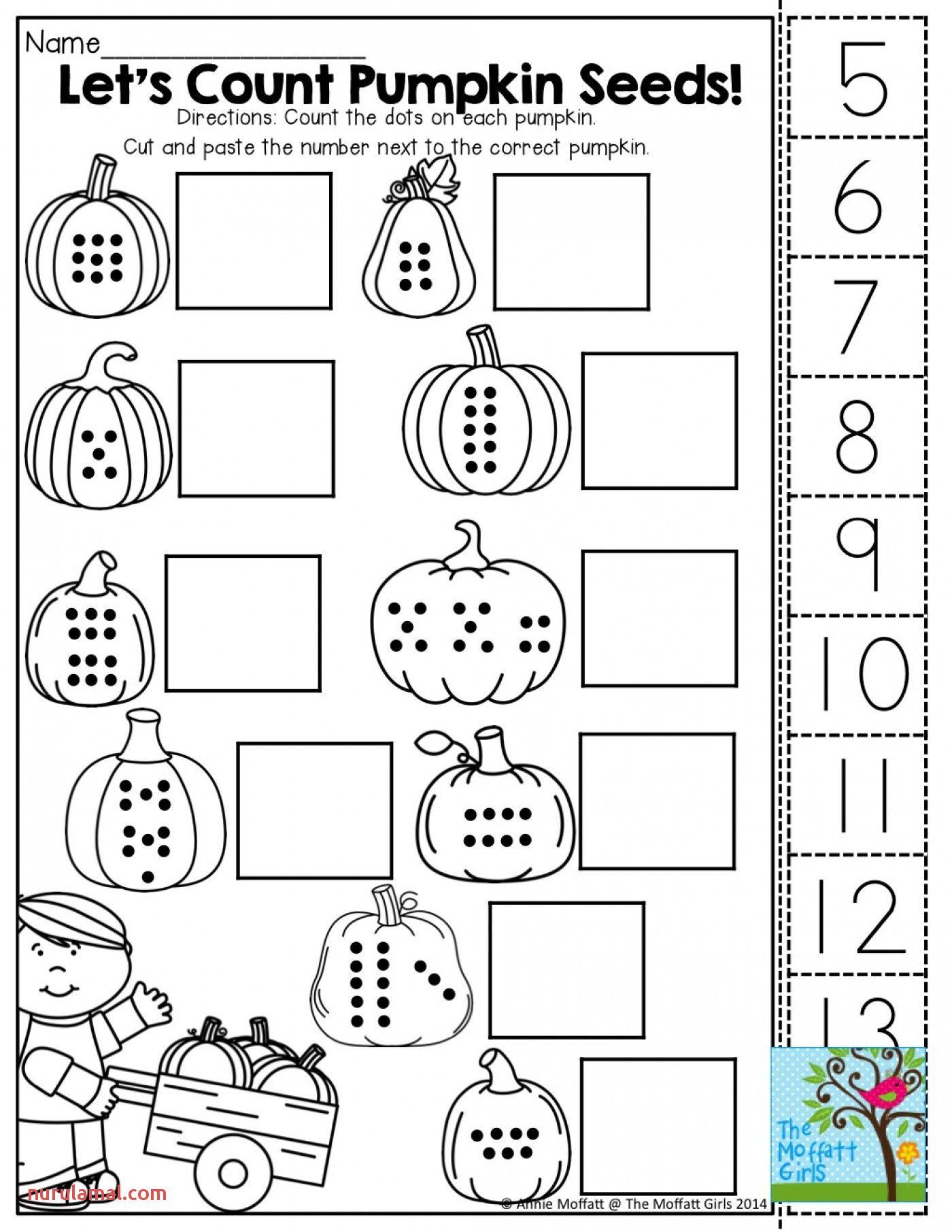 Halloween Math Worksheets Free Kindergarten Printable