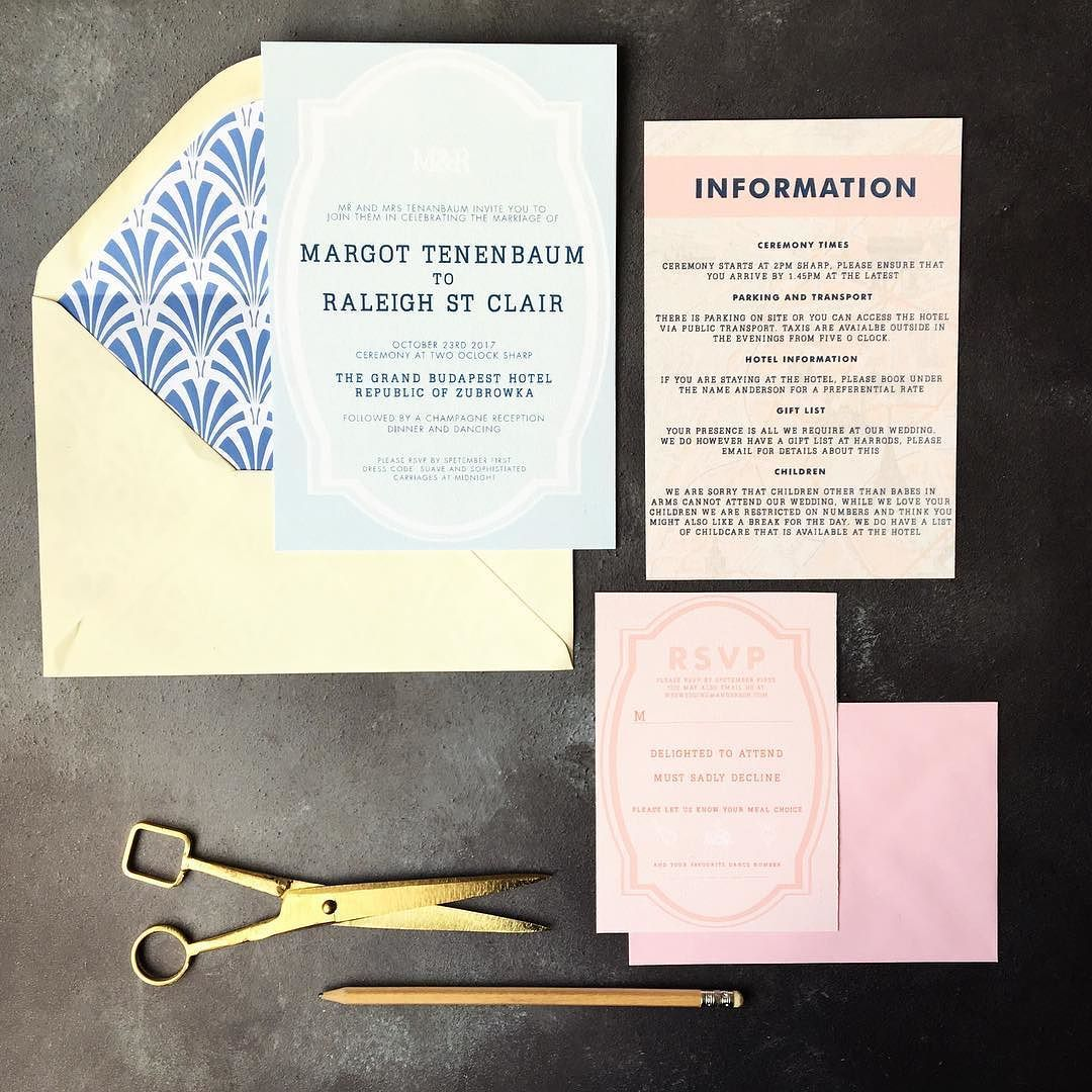 Wes Anderson themed wedding invitation | crafts | Pinterest ...