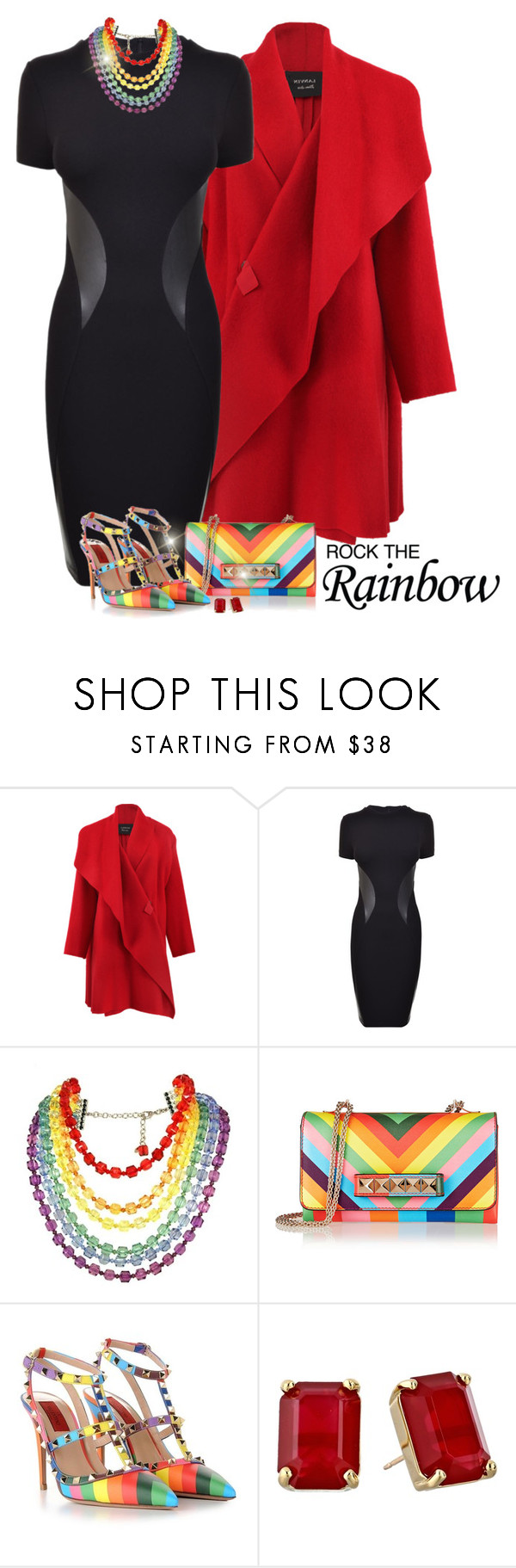 """""""Rainbow Style"""" by signaturenails-dstanley ❤ liked on Polyvore featuring Lanvin, McQ by Alexander McQueen, Tarina Tarantino, Valentino, Kate Spade, women's clothing, women's fashion, women, female and woman"""