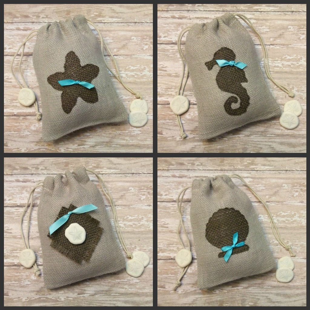 Burlap Gift Bags for a Seaside Wedding. $16.00, via Etsy. | Burlap ...