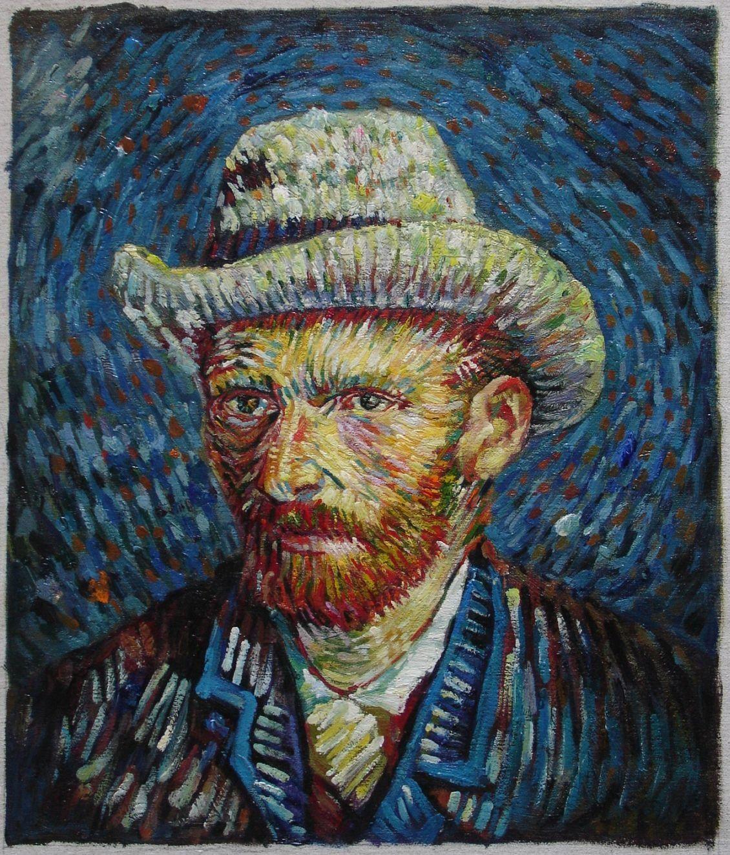 van Gogh Poster Self-Portrait with Grey Felt Hat 24x36