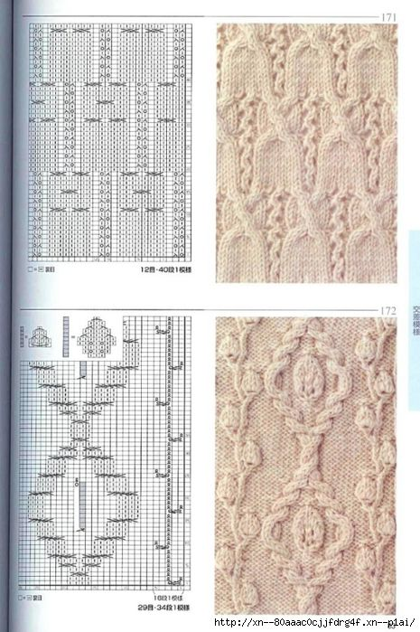 Lace & Cables knitting patterns ~~ http://blog.trud.ru/users ...