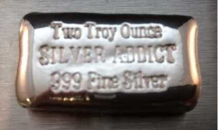 Buy Yps 2oz Silver Addict Hand Poured Silver Bar Online At Shinybars Com We Offer Competitive Silver Prices And 24 7 Secure Orde Silver Bars Gold Bullion Silver Prices