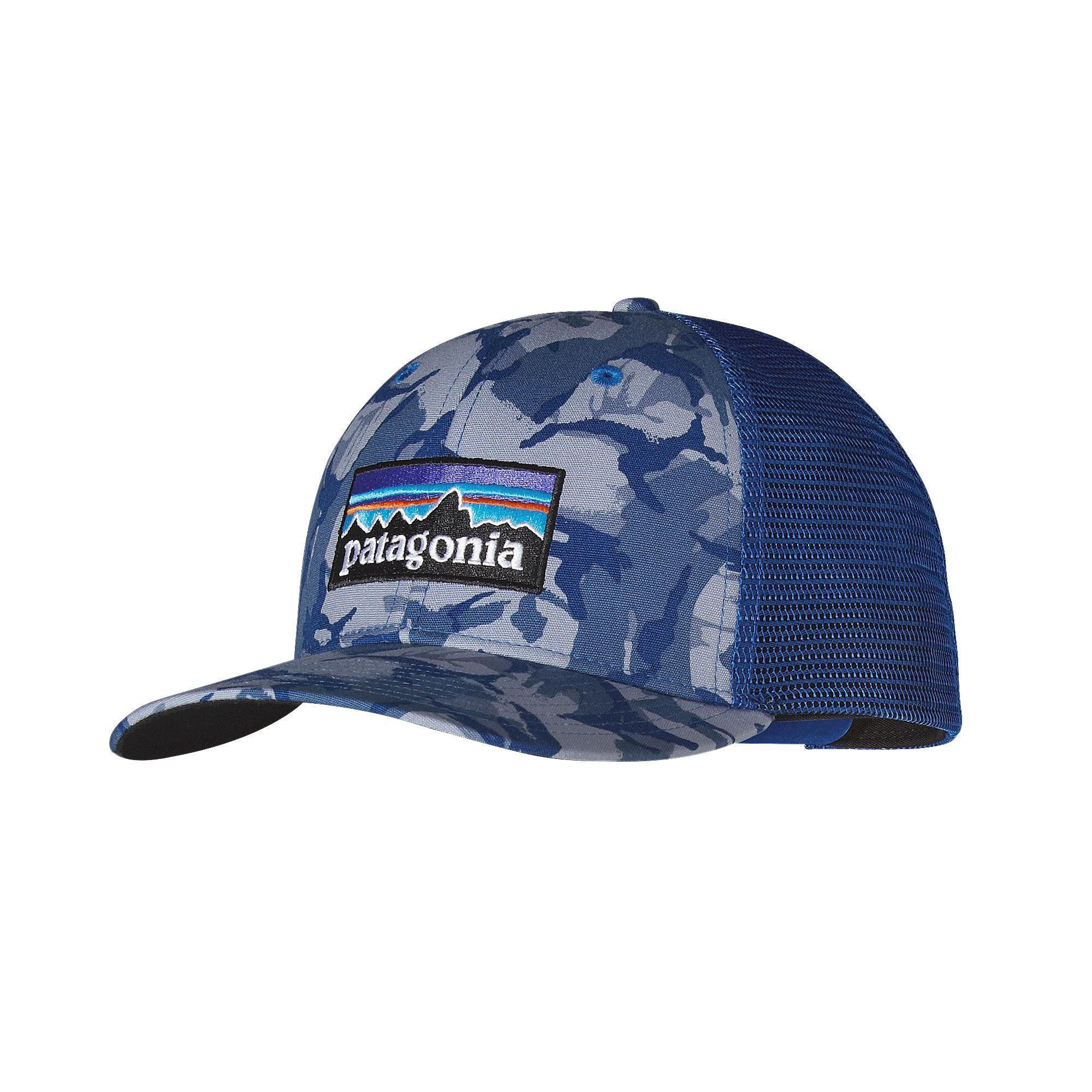Patagonia P-6 Trucker Hat- Big Camo- Leaden Blue from Shop Southern Roots TX 97745eaf83c