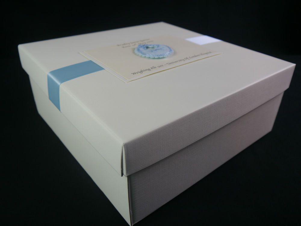 Baby Gift Memory Box : Large memory keepsake box for baby boy girl twins