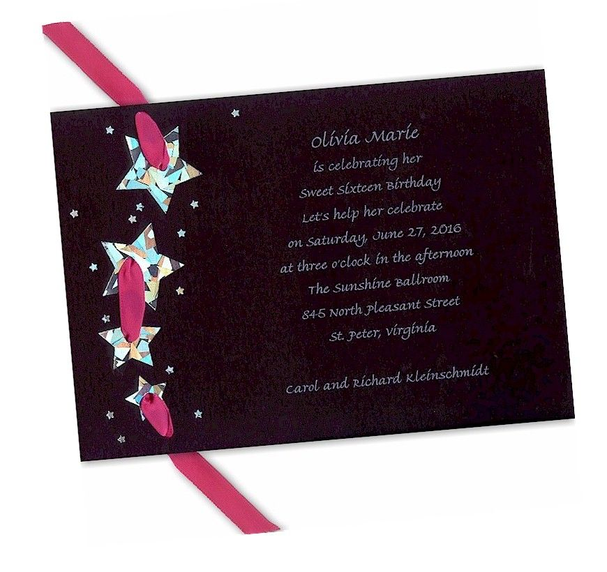 Star Studded Event Prom Invitation - $128 each when you purchase - prom invitation templates