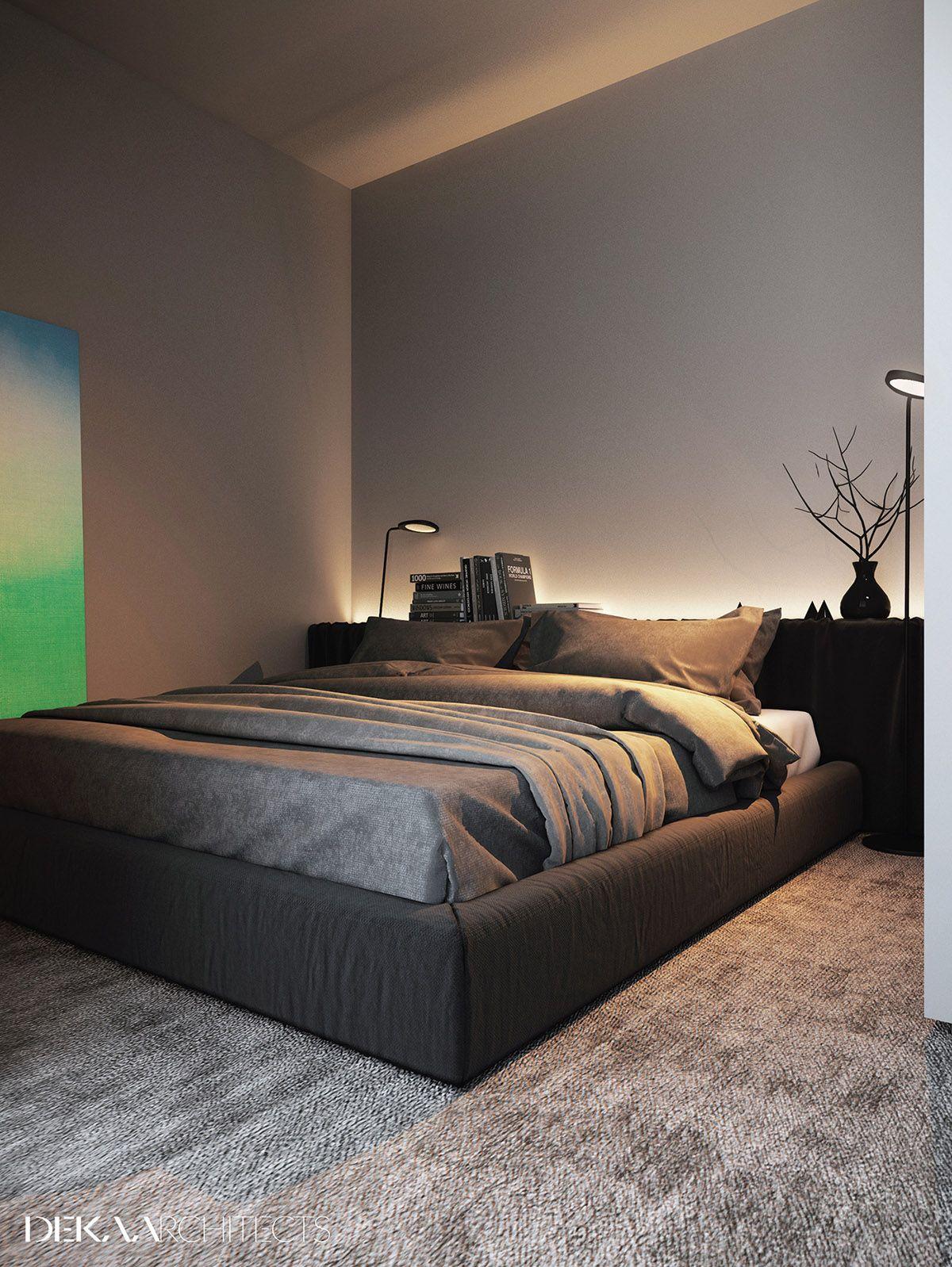 Grey, Raw, Masculine Interiors Grey bedroom design