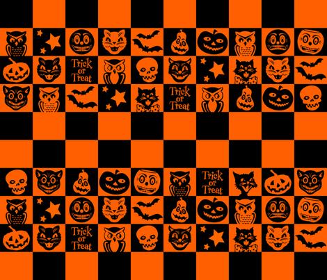 Halloween ~ Bogie Book no. 2 fabric by retrorudolphs on Spoonflower - custom fabric