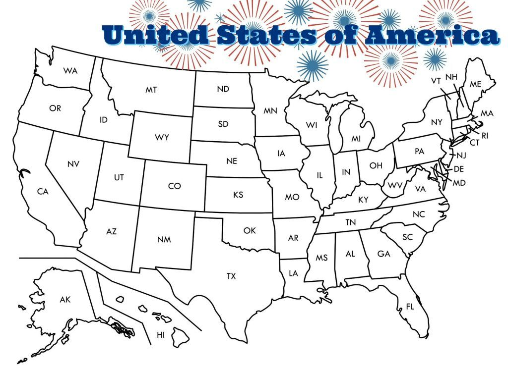Us Map Coloring Pages Us Map Printable United States Map