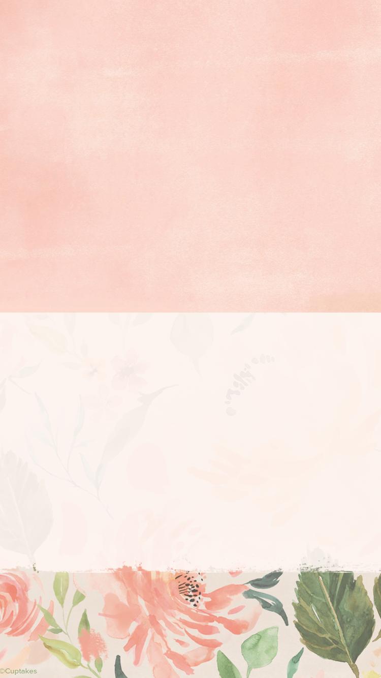 Homescreen Wallpaper For Iphone 6 6s 7 And Iphone 6 6s 7 C Cuptakes Dengan Gambar Bunga Cat Air Fotografi Abstrak Abstrak