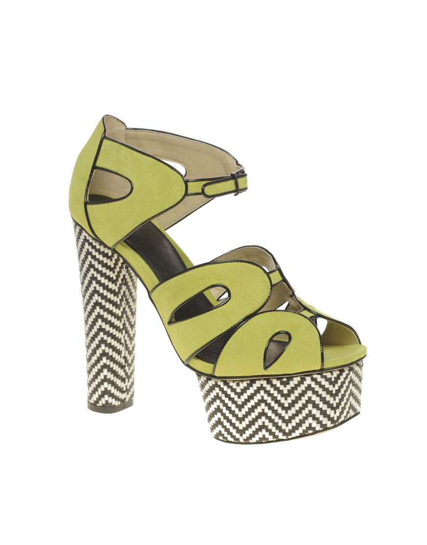 Today's So Shoe Me is the Helix Platform, $117, by and available at Asos. Spring into a new season with modern graphic details and a punchy neon hue.