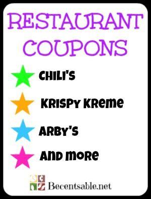 Restaurant Coupons Chilis Krispy Kreme And More
