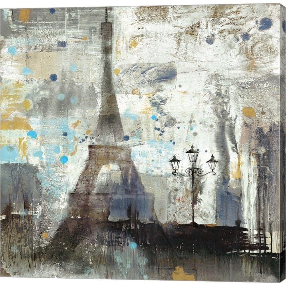 Albena Hristova 'Eiffel Tower Neutral' Canvas Art