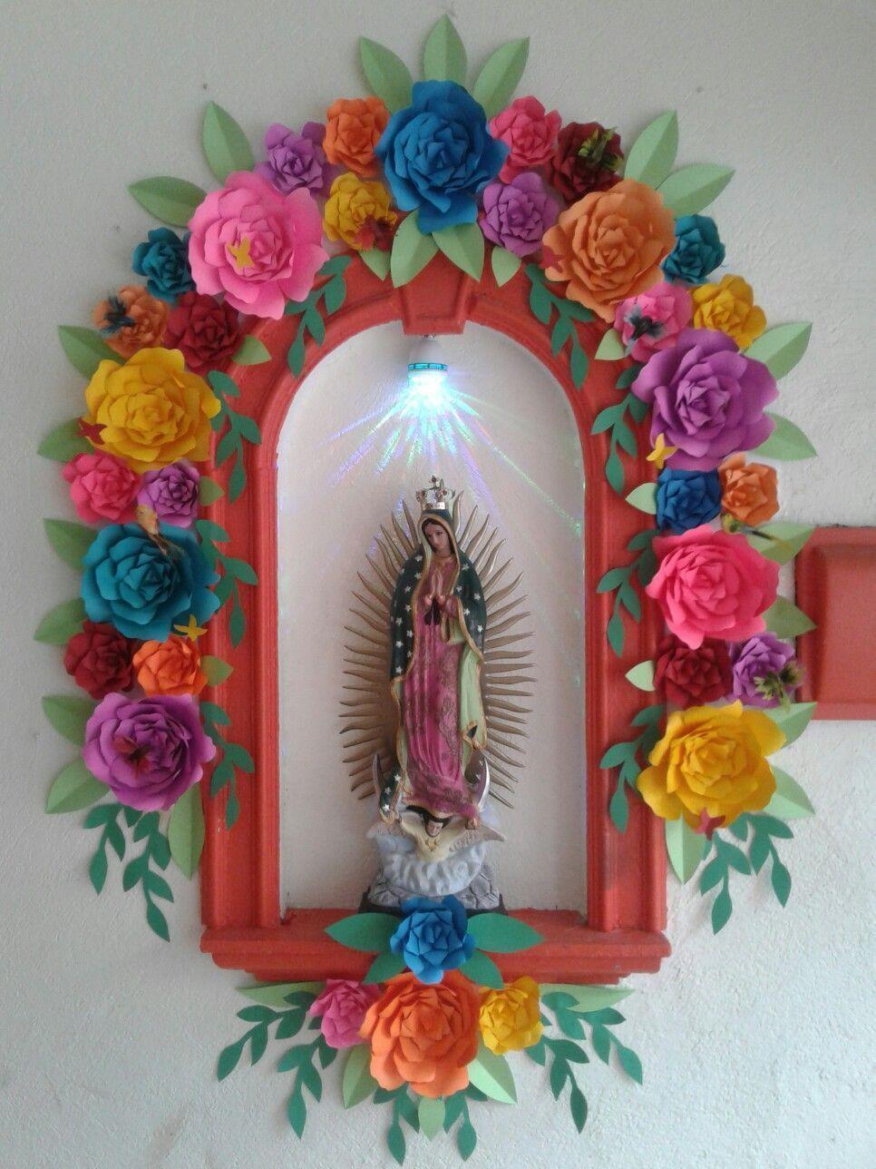 Floresdepapel Mexico Guadalupana Artesaniasmexico