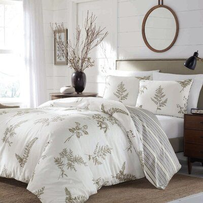 Laurel Foundry Modern Farmhouse Lynnfield Reversible Duvet Cover Set | Birch Lane