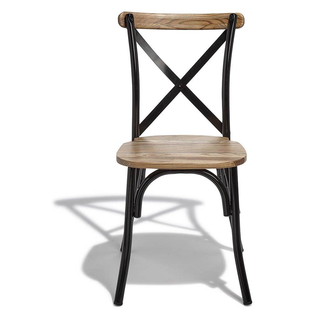 lot de 2 chaises juliette noir et bois