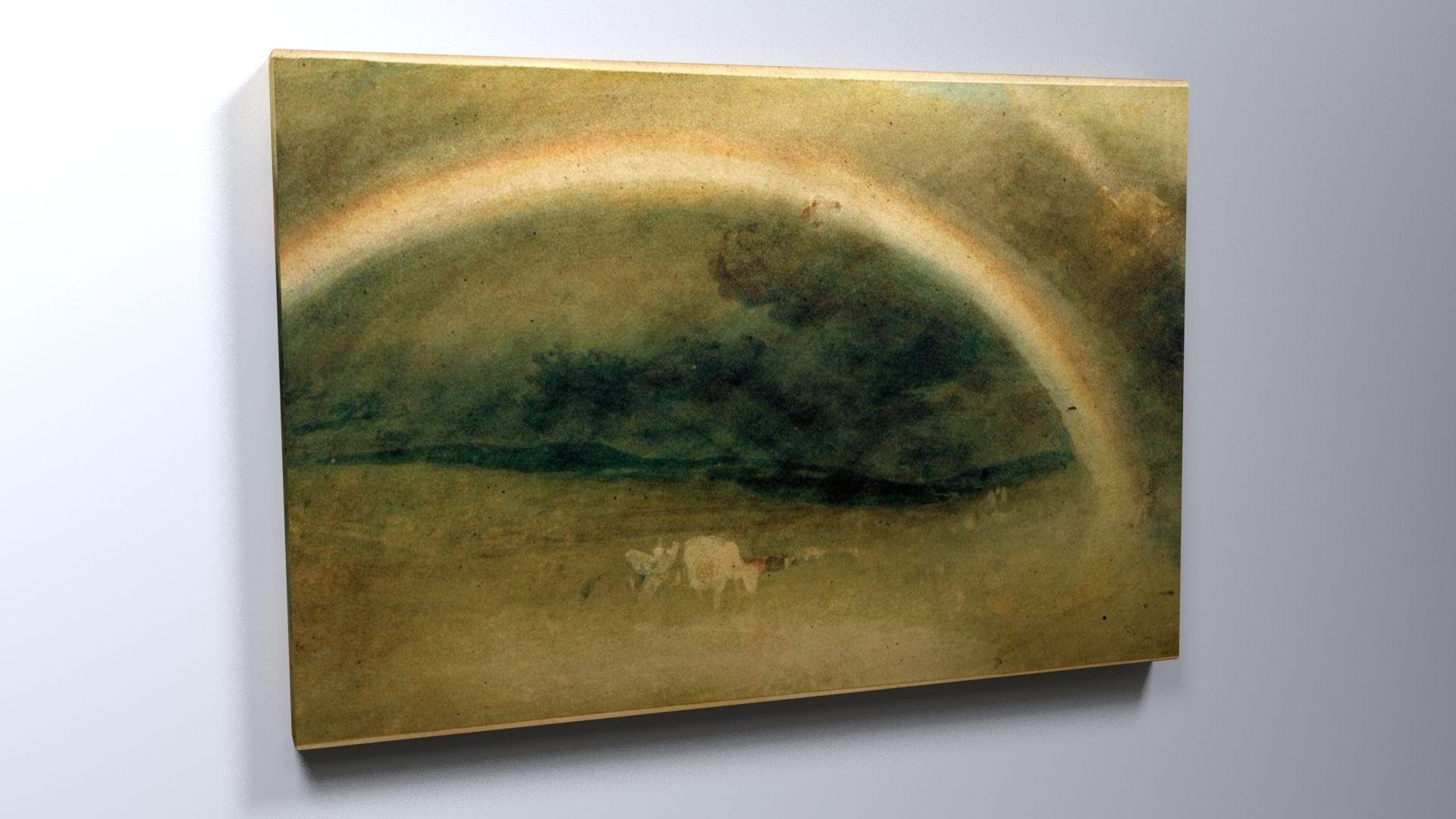 William Turner, Ein Regenbogen mit Rindern #William #Turner #weewado #Will #turner #sky #art #landscape #scenery