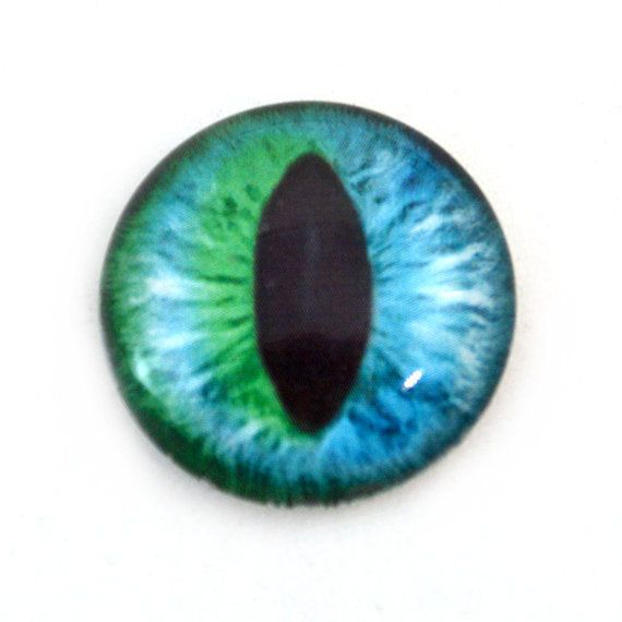 25mm Single Teal and Purple Steampunk Click Glass Eye for Taxidermy Sculptures Doll or Jewelry Making Crafts