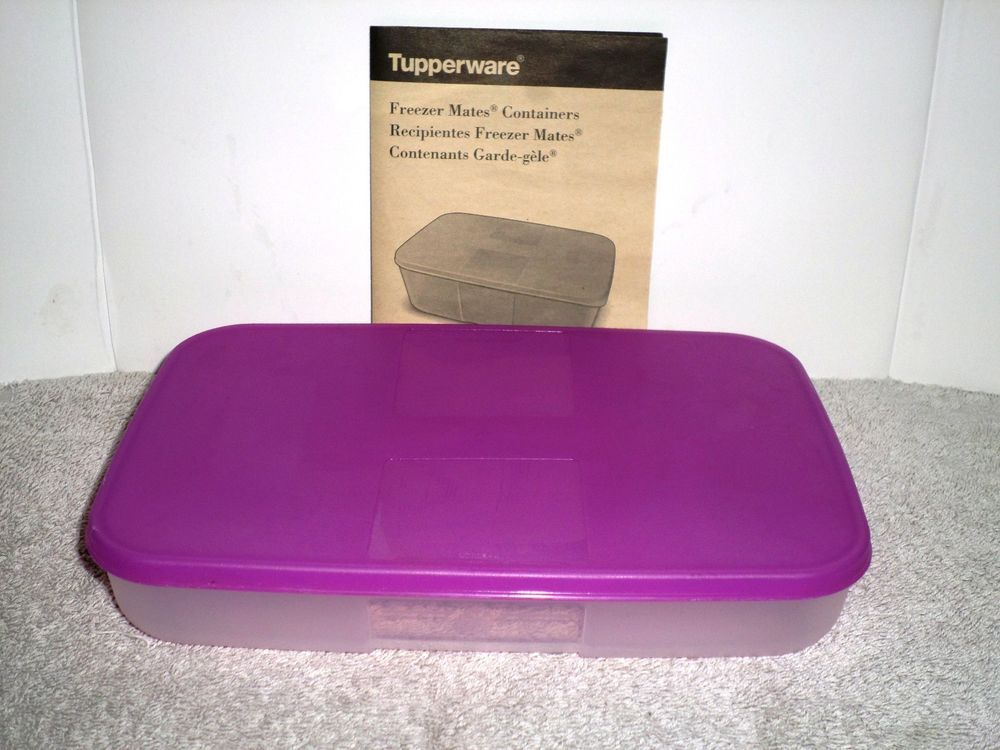 Tupperware Freezer Mate 2 1 4 Cup Container Purple Lid Brand New Tupperware Plastic Food Containers Food Container Set