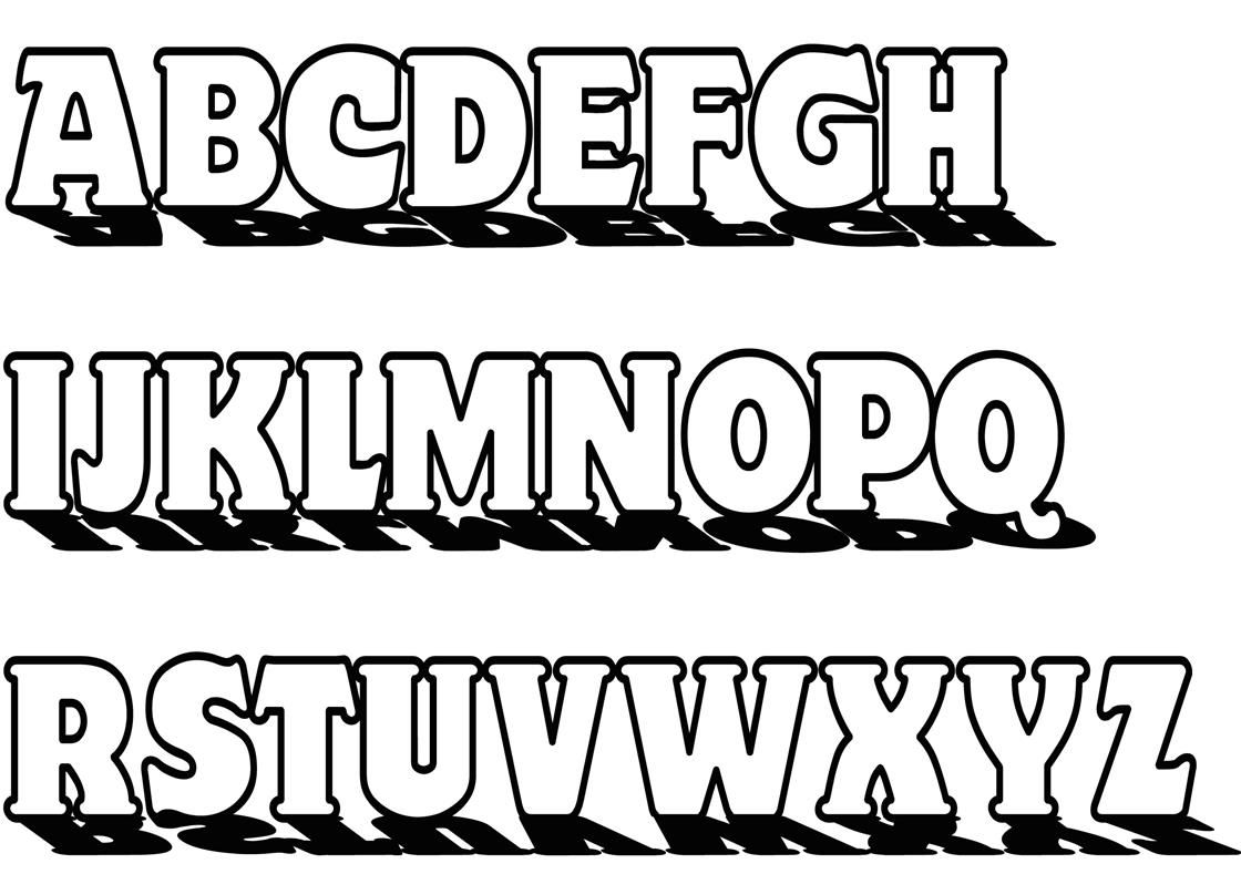 Buchstaben ausmalen: ✎ Alphabet Malvorlagen A-Z | Pinterest ...