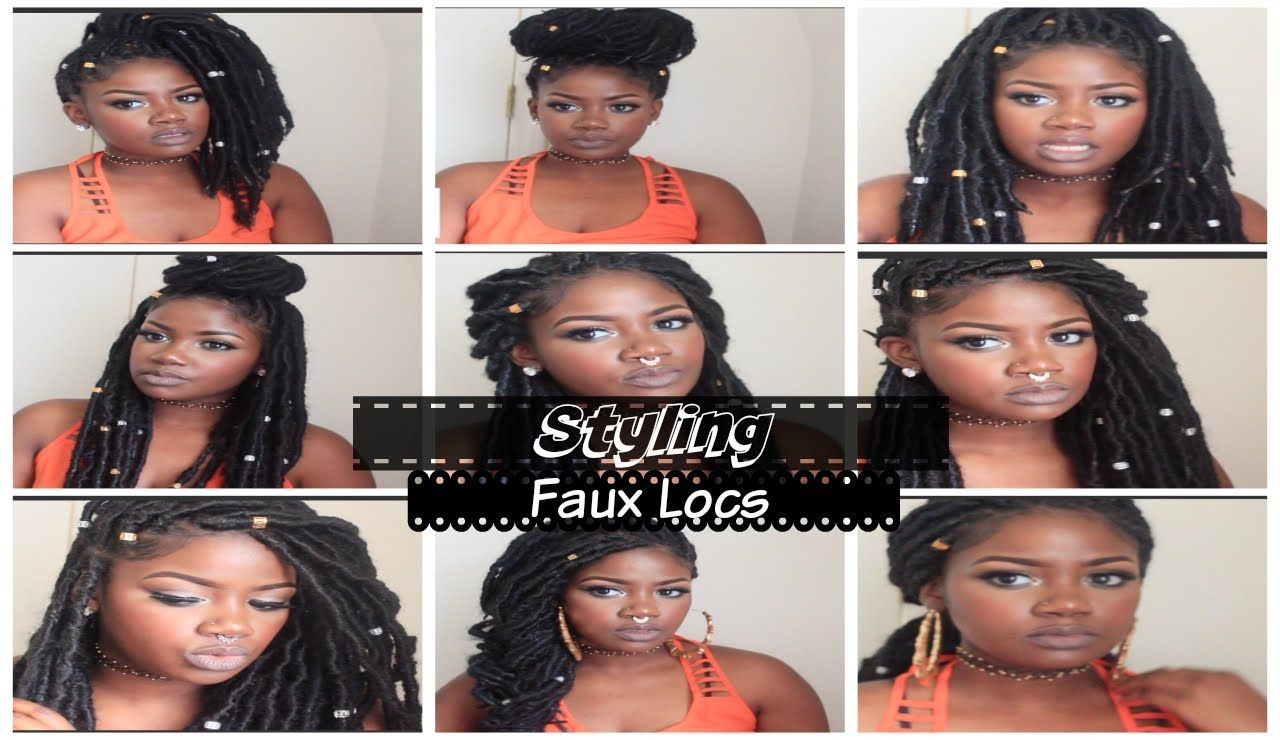 Faux Locs Hairstyles Pleasing Styling Faux Locs  Hair Inspiration  Pinterest  Faux Locs Locs