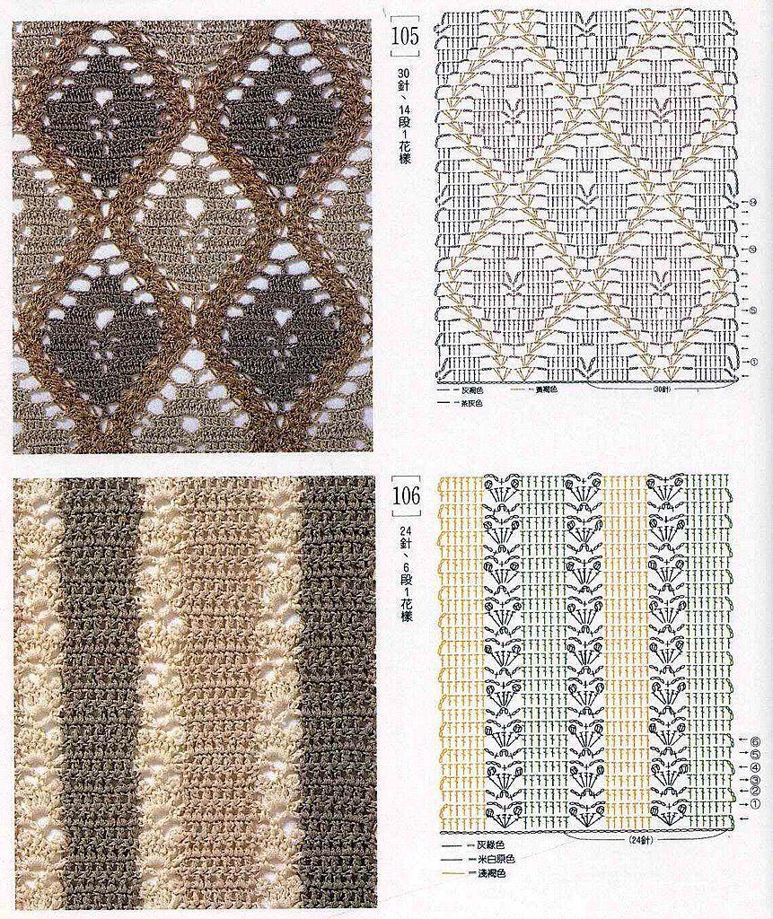 SOLO PUNTOS: Crochet dos colores | puntos de ganchillo | Pinterest ...