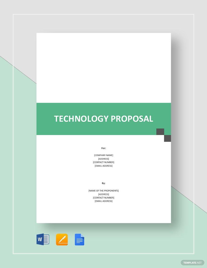 technology proposal proposal templates business. Black Bedroom Furniture Sets. Home Design Ideas