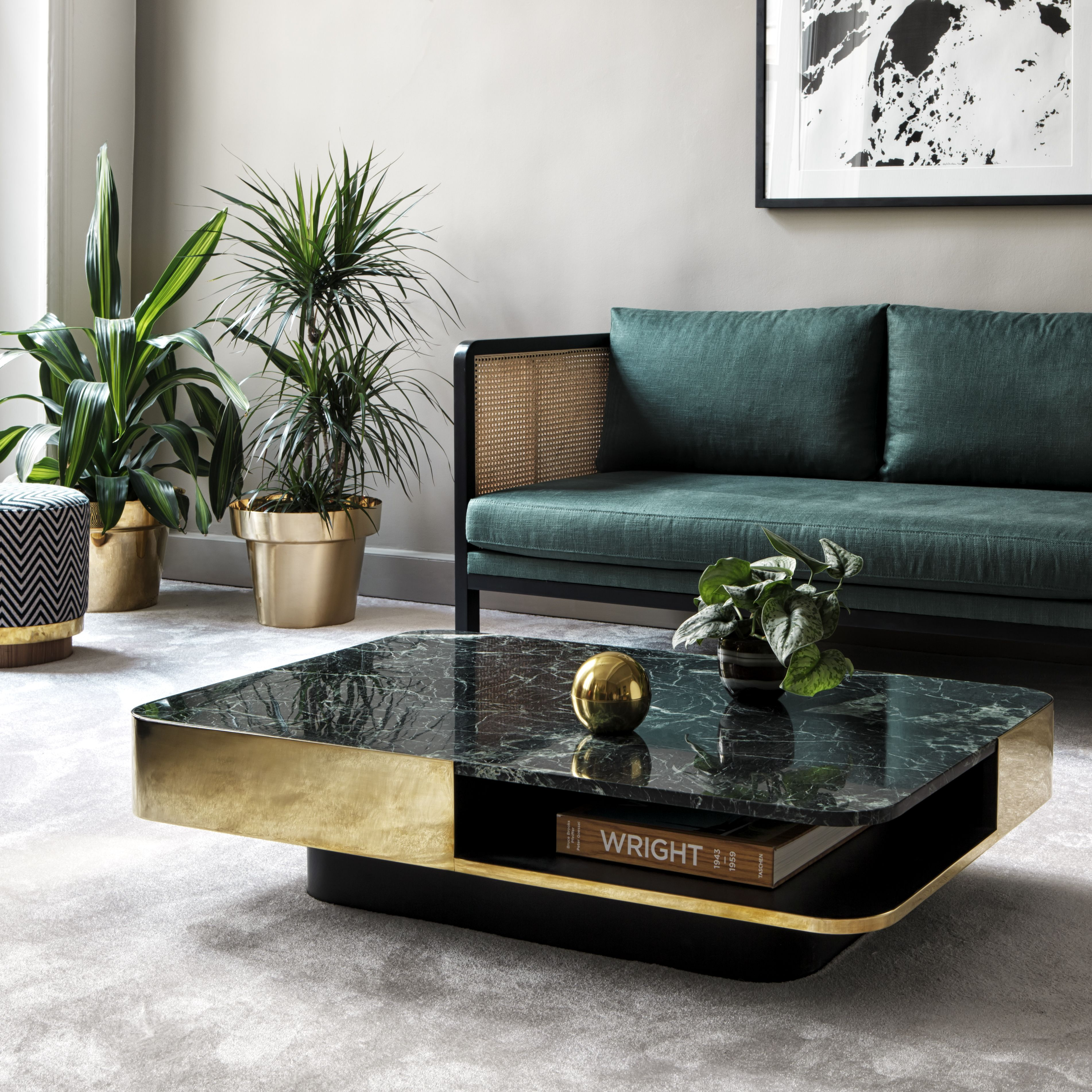 Table Basse Lounge Marbre Vert Red Edition La Table Lounge Est