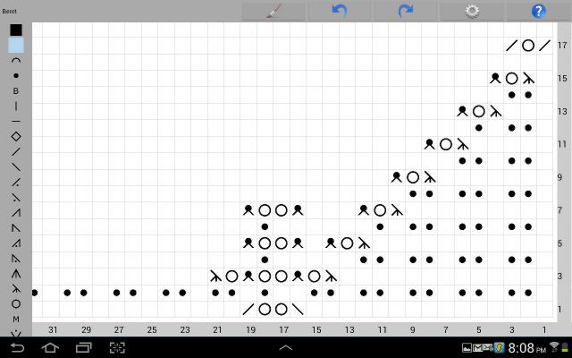 Knitting chart maker for ipad iphone and android knitting