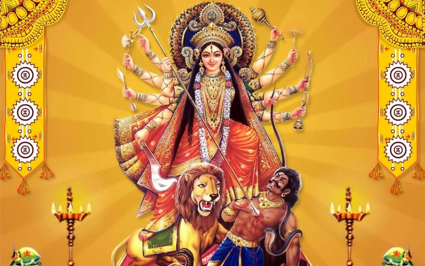 Happy Navratri Maa Durga And Ambe Hd Wallpapers Is A High Resolution Desktop Wallpaper Posted In Happy Navratri Category Free Dow Durga Maa Durga Durga Images
