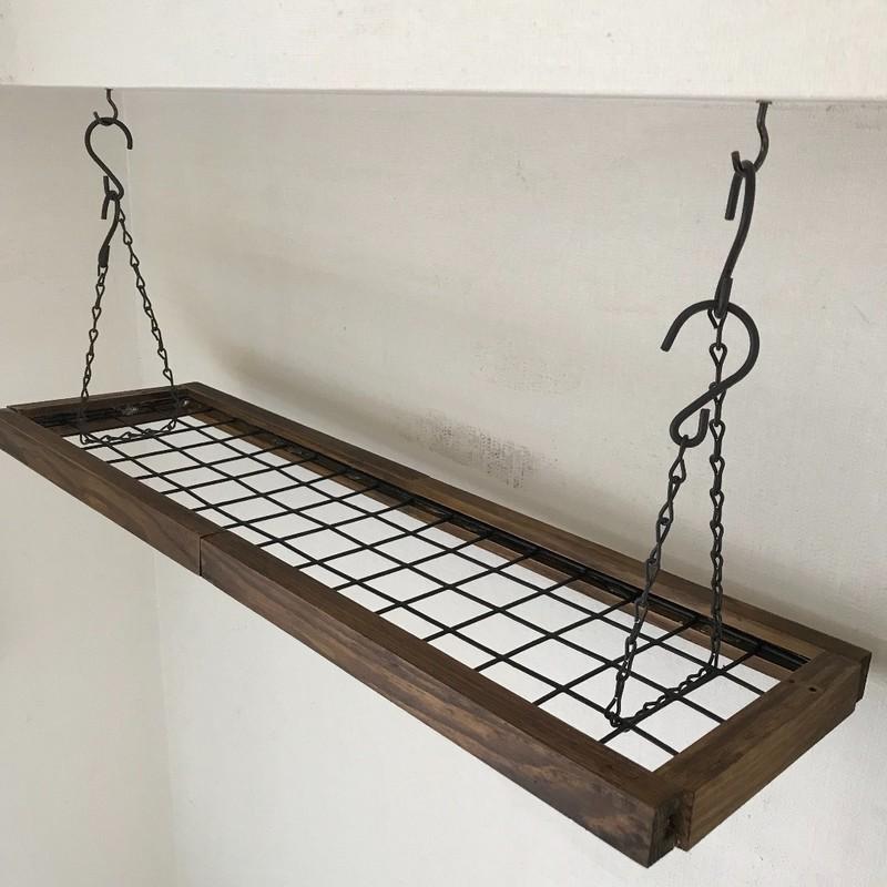 セリアの商品だけでできる天井から吊り下げれるワイヤーラック 2020