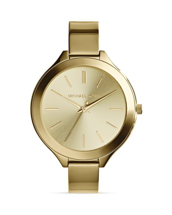Michael Kors Gold-Tone Slim Runway Three-Hand Watch, 43mm   Products ... 172780d769