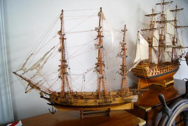 maquette artisanale d ships model ships bottle maquette de bateau bateau. Black Bedroom Furniture Sets. Home Design Ideas