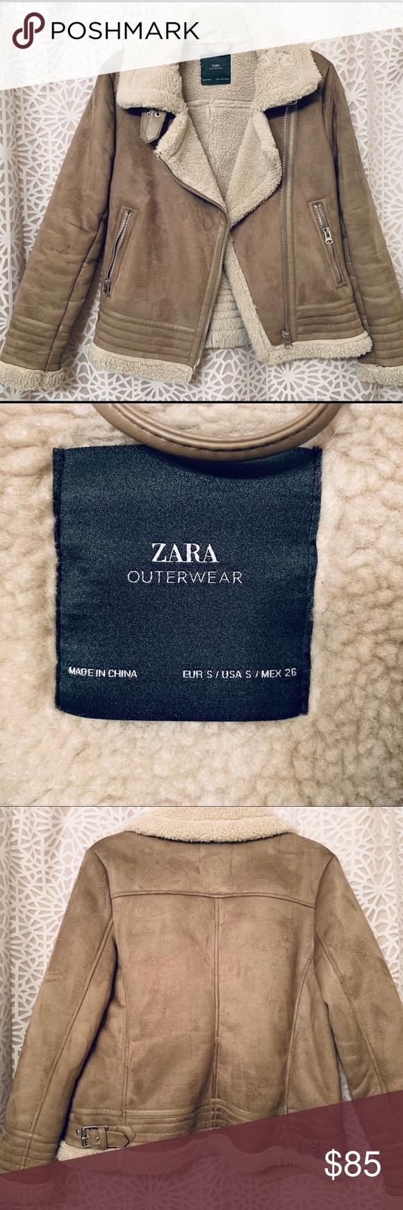 Stunning Zara Shearling Moto Jacket Zara, Jackets