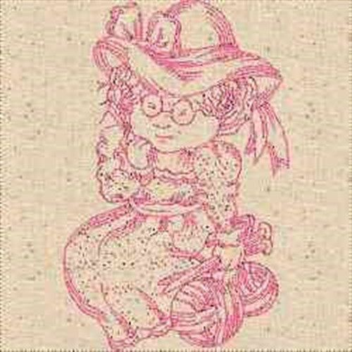 Landmark Embroidery Designs Embroidery Design: RW Knitting Woman 3.89 inches H x 2.50 inches W