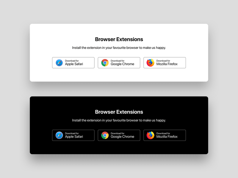 Browser Extensions Download Buttons Sketch Freebie Download Free