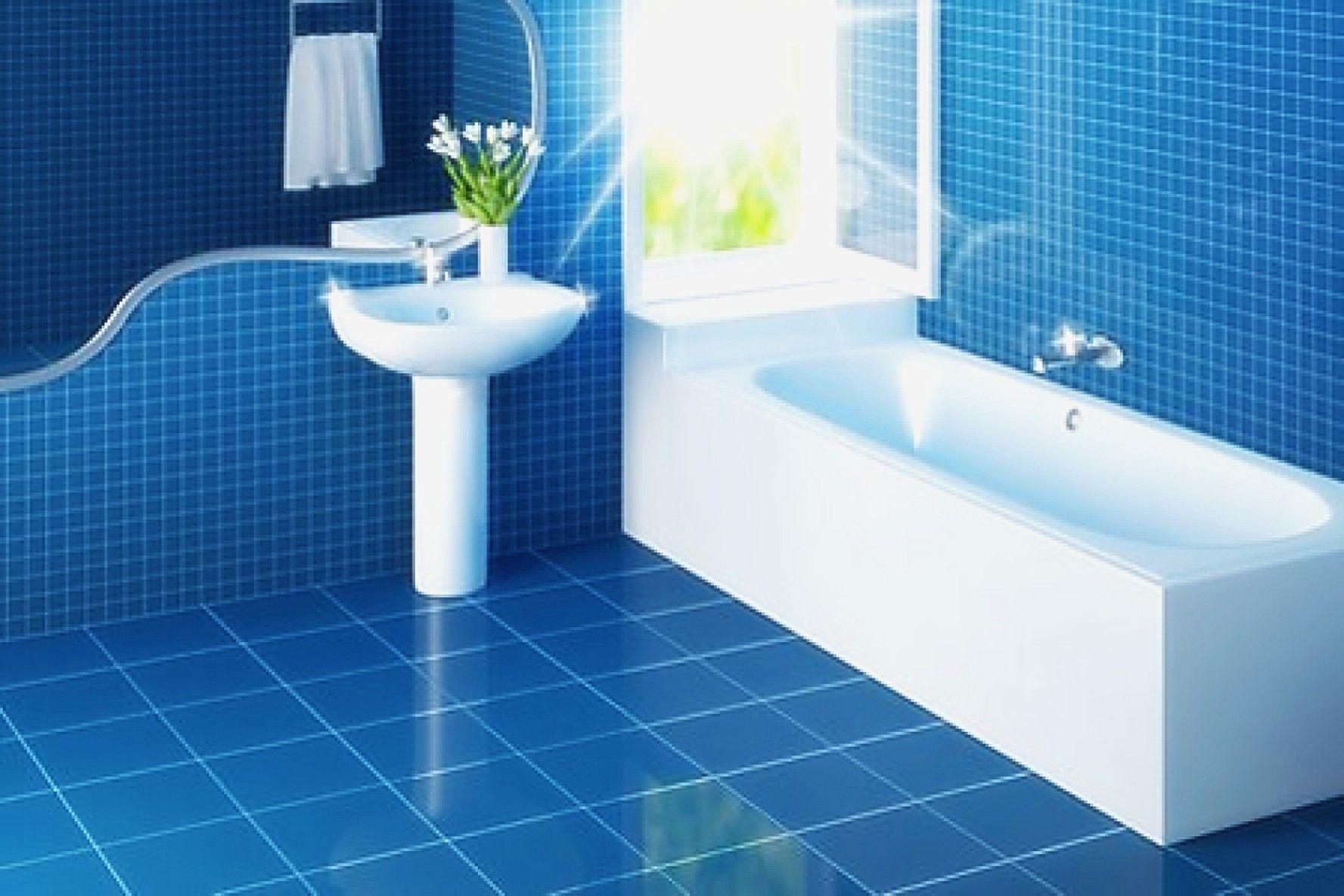 Blue Modern Bathroom Tile Ideas